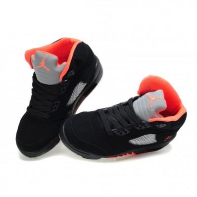 Jordan 5 enfants,basket jordan 5 enfant noir et rouge