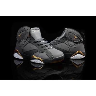 Jordan 7 enfants,soldé 2016 Air Jordan 7 VII Retro or Medal enfants chaussures noir