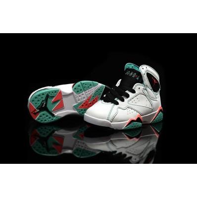 Jordan 7 enfants,2016 Air Jordan 7 Retro GSVerdeblanche/noir Verde InfraRouge 705417