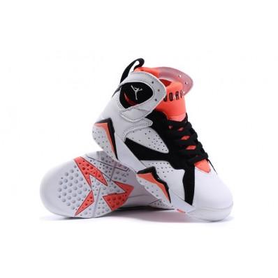Jordan 7 enfants,Enfant Nike Air Jordan 7 Retro Noir / Blanc / Orange