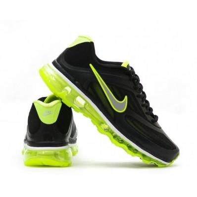 Nike Air Max 2009 Femme,Noir Vert Nike Air Max 2009 Chaussures Running Trainer Femmes,Nike