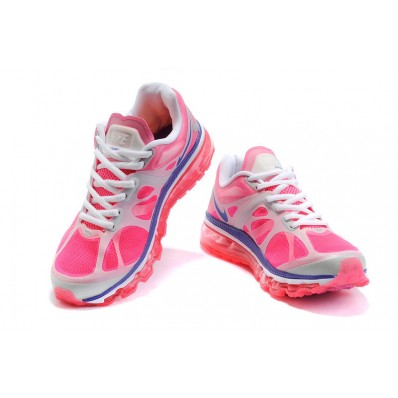 Nike Air Max 2012 Femme,Rose Flash Metallic Argent Blancheur Pourpre Nike Air Max 2012