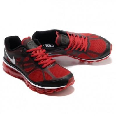 Nike Air Max 2012 Homme,Homme Chaussure de course nike air max 2012 noir rouge blanc
