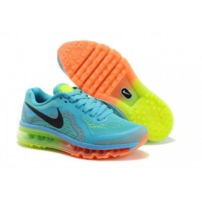 Nike Air Max 2014 Femme,Designs Femmes Nike Air Max 2014 Femmes Orange/Rouge/Vert QT60987