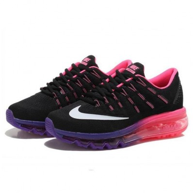 Nike Air Max 2016 Femme,Femmes Nike Air Max 2016 Baskets Chaussures de running noir rose