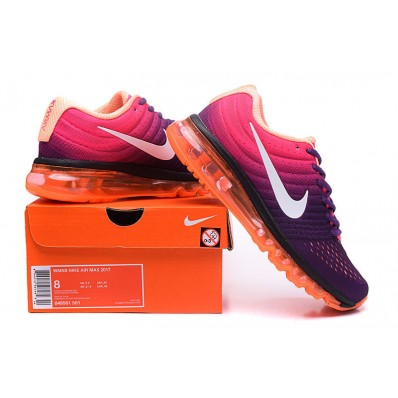 Nike Air Max 2017 Femme,Chaussure Course Femme Nike Air Max 2017 Purpel Orange Blanche
