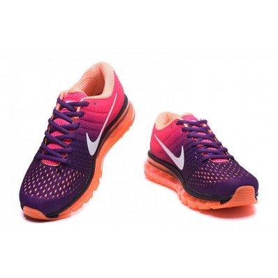 Nike Air Max 2017 Femme,3 Gret Violette Rose Orange Femme Nike Air Max 2017 Chaussures