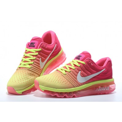 Nike Air Max 2017 Femme,Running Jaune Fluo Rose Femme Nike Air Max 2017 Chaussures