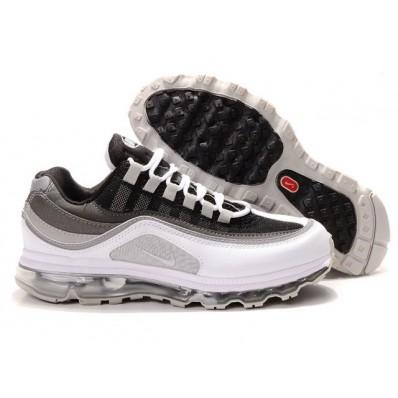 Nike Air Max 24-7 Femme,basket nike homme, Chaussures Nike Air Max 24 7 Blanc/Gris/Noir