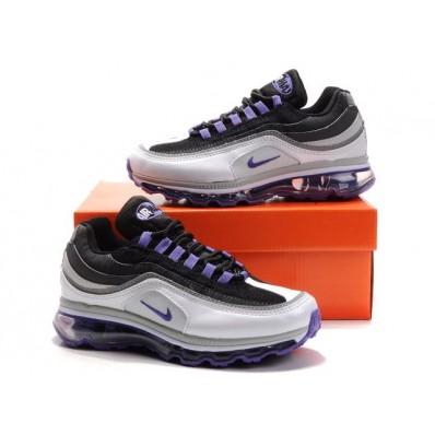 Nike Air Max 24-7 Femme,Nike Air Max 24 7 Blanc Noir Violet Chaussures Femme [450085sdr
