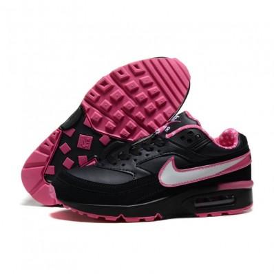 Nike Air Max BW Femme,Nike Air Max BW Femme Noir Et Rose GALAXSTREET PARIS