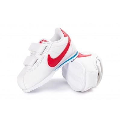 Nike Cortez enfants,Nike Cortez Cuir Bébé blanche et rouge Chaussures Toutes les