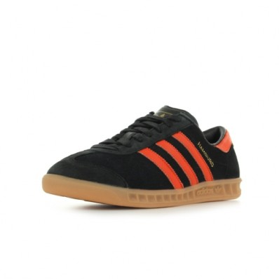 adidas hamburg homme,Adidas Hamburg YD100341.LL Homme Noir et orange Baskets basses