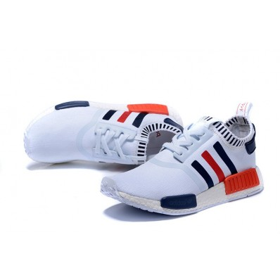 adidas nmd homme,Chaussure tennis Adidas NMD Runner Homme Stripes Blanc/Noir/Rouge