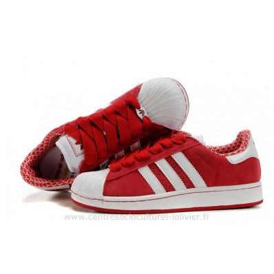 adidas superstar 2 femme,Nouveautes Femmes Adidas PrixRougeuit Superstar II Contre Rouge