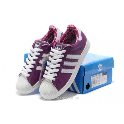 adidas superstar 2 femme,Adidas Superstar II Femmes Violet Blanc Baskets Adidas Originals