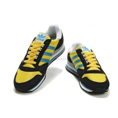 adidas zx 500 homme,Meilleur Fr Adidas ZX 500 Homme Noir Jaune Bleu Sneakers Loisir