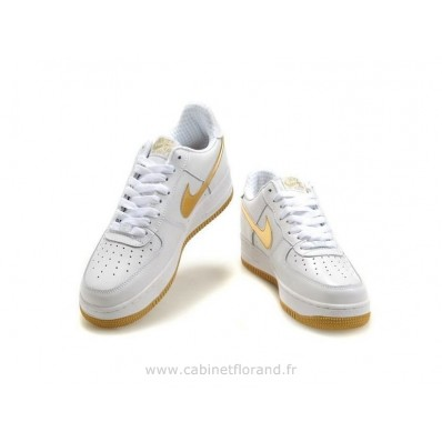 nike air force 1 enfants,Nike Air Force 1 Basse &Apos;07 Blanc Vieux DorÉ Chaussure Pour