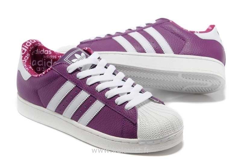 adidas superstar violet blanc