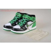 Jordan 1 enfants,Nike Air Jordan 1 Enfants Blanche Noir Vert | olimediumvoyante