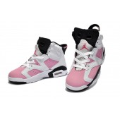Jordan 6 enfants,Kids rose blanc noir Air Jordan 6 vente