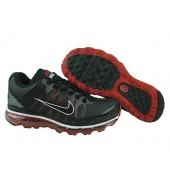 Nike Air Max 2009 Homme,D9100637 Nike Air Max 2009 en cuir noir pour homme / vert