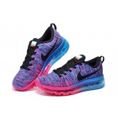 Nike Air Max 2014 Femme,Bon Prix OK54786 Air Max 2014 Flyknit Violet et Rose chaussure