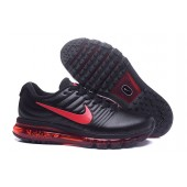 Nike Air Max 2017 Homme,Chaussures Baskets Femme Nike Air Max 2017 Leather Noir Rouge