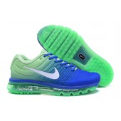 Nike Air Max 2017 Homme,Prix baskets Homme Cheap Nike Air Max 2017 Bleu Verte Blanche Sneakers