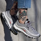 Nike Air Max 97 Femme,AIR MAX 97 OG QS Baskets basses metallic silver/varsity Rouge