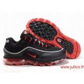 Nike Air Max R4 Homme,Noir Baskets rouges de Nike Air Max R4 Hommes Chaussures de course