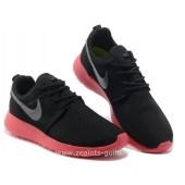 Nike Roshe Run enfants,Nike Roshe Run Pour Femme Noir Rouge Argent Mesh Roshe Run Pas