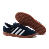 adidas hamburg homme,Purchase 2016 Adidas Hamburg Suede navy Blanche Mens Casual Sneakers