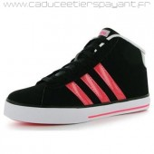 adidas neo daily team femme,Noires/Rouge Femme Adidas Neo Daily Mid Top Junior Trainers Pas Chere