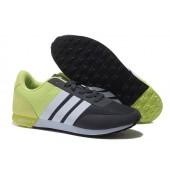 adidas neo homme,Femme Adidas NEO V Racer TM Apr Chaussures de Course Noir/Blanche