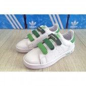 adidas stan smith enfants,Adidas Stan Smith Enfant Velcro Dégradé blanc et vert Adidas