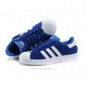 adidas superstar 2 femme,Adidas Superstar II Femmes Stan Smith Bleu Blanc