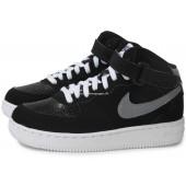 nike air force 1 enfants,77.76, Noir Enfant Nike Air Force 1 Mid Enfant Noire Baskets