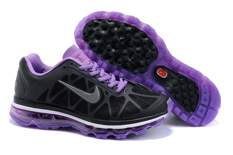 Nike Air Max 2011 Femme, U0200790 Nike Air Max 2011 Femmes Netty noir / violet Chaussures Outlet  France