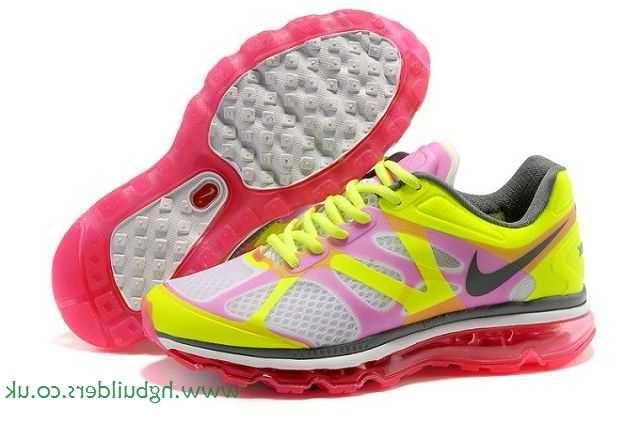 Nike Air Max 2012 Femme, Autorisés Blanc Shocking Rose-Slategray Chaussures Femmes Nike Air Max 2012  Noir Taille Femme: