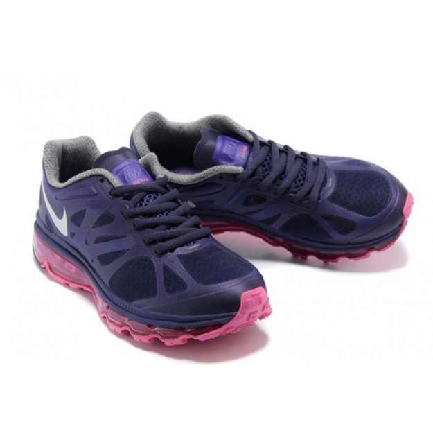 Nike Air Max 2012 Femme, Femme Chaussures de jogging 2016 Super Populaire Nike Air Max 2012 Pourpre  Navy-Blanc-Rose LKD960