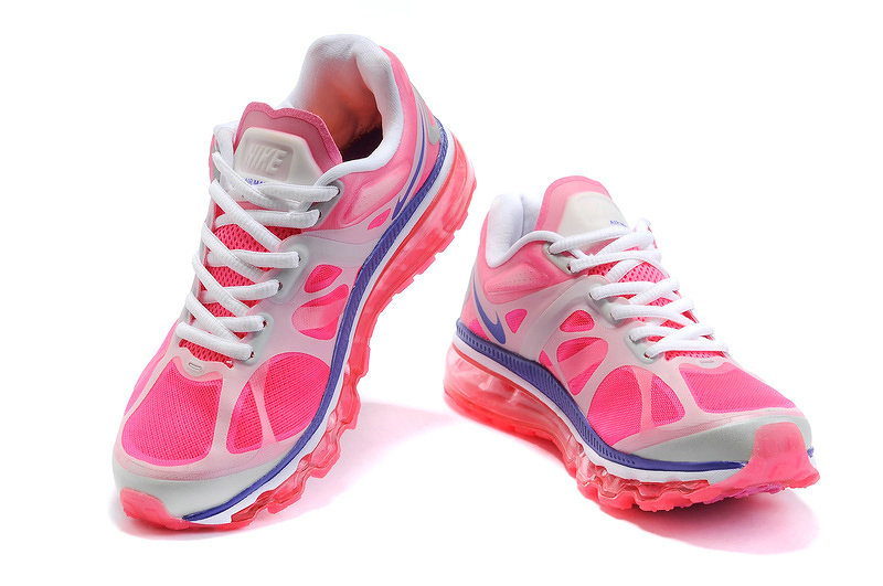 Nike Air Max 2012 Femme, Rose Flash Metallic Argent Blancheur Pourpre Nike Air Max 2012 Femmes  Running