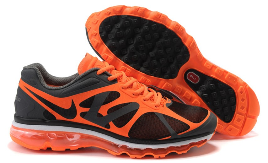 Nike Air Max 2012 Homme, Anthracite Orange Blancheur Noir Nike Air Max 2012 Homme