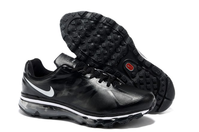 Nike Air Max 2012 Homme, Nike Air Max 2012 Homme Chaussures de Sport Leather Noir Blanche