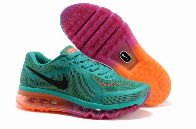 Nike Air Max 2014 Femme, Women Nike Air Max 2014 Mesh vert Orange rouge,air jordan 11 low,excellents