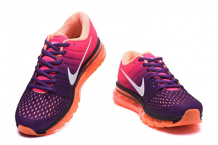 Nike Air Max 2017 Femme, Femme - Nike Air Max 2017 3 Grand Violette Rose Orange Acheter En Ligne