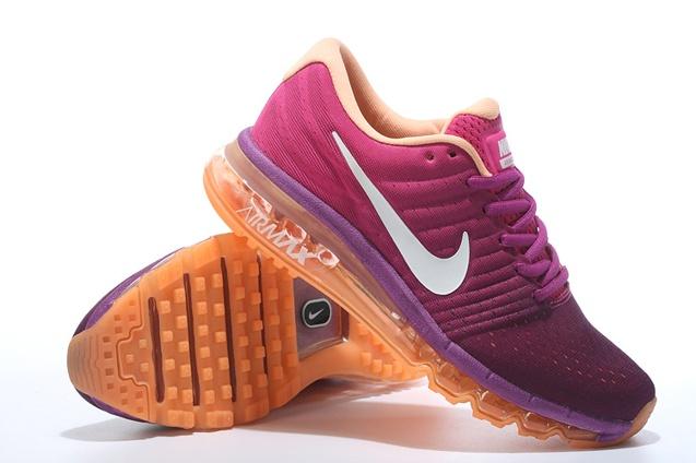 online store 2c338 bfa05 Nike Air Max 2017 Femme,Orange Violet Blanche Femme Nike Air Max 2017  Chaussures