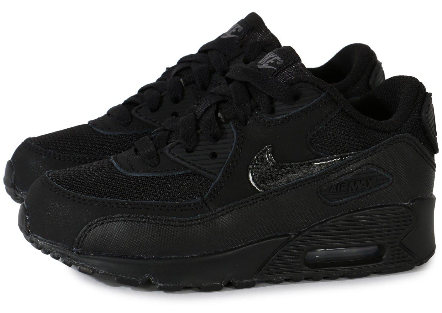 official photos 02850 4f09b Nike Air Max 90 enfants, Cliquez pour zoomer Chaussures Nike Air Max 90  enfant noire