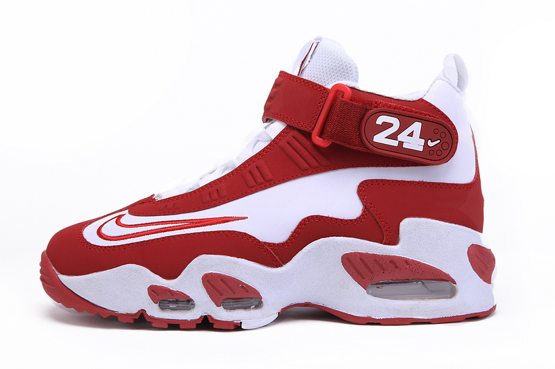 Nike Air Max Griffey Femme, grande vente nike air max Griffey 1 gs hommes 24k formation chaussures en  blanc rouge