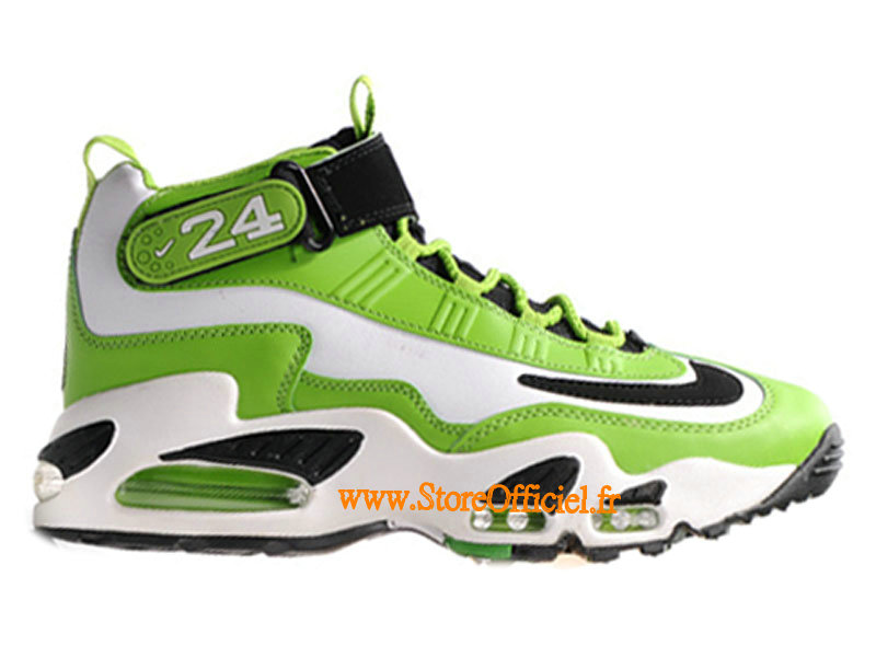 Nike Air Max Griffey Homme, Nike Air Griffey Max I Chaussures NIke Baskets Pas Cher Homme Blanc/Vert  354912-